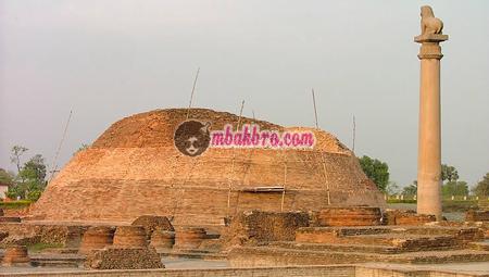 salah satu reruntuhan peninggalan Ashoka