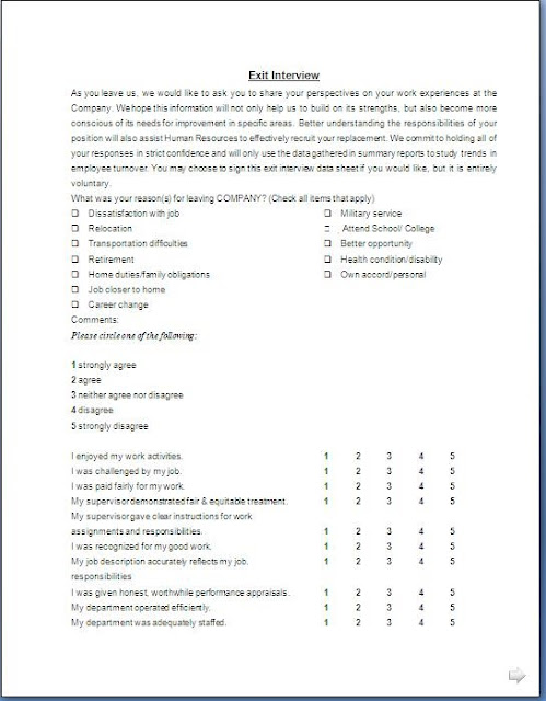 Exit Interview Form. Exit Interview Form – 9+ Free Pdf, Word ...