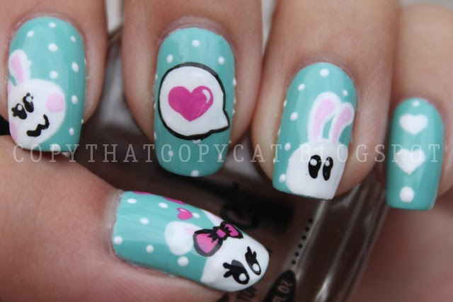 Copy That, Copy Cat: Bunny Love Nails u0026 My Phone Case Bling Project!