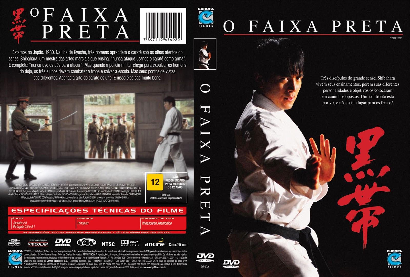 Capa DVD O Faixa Preta