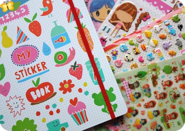 Sticker book et stickers MAJOLO