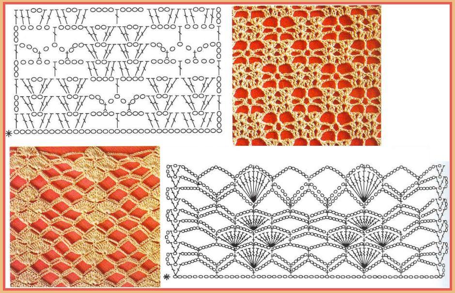 Inspira    es Fios de Sol  Coisas d  Aldeia  Pontos de crochet