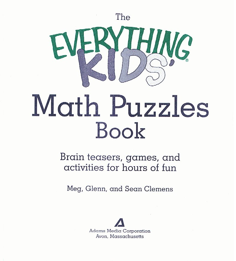 Kids Zone : The Everything Kids Math Puzzles Book Part II Contents