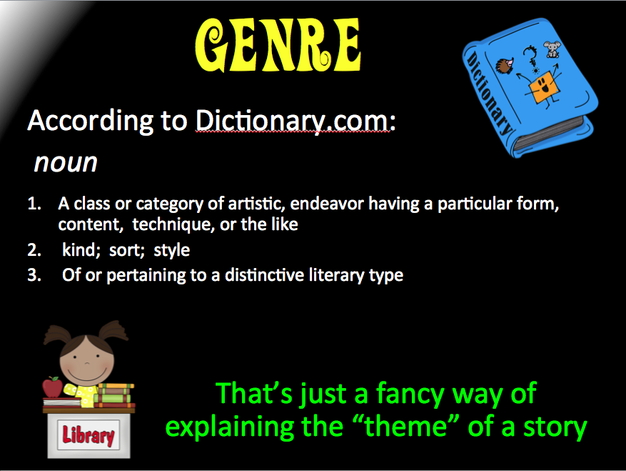 a description of the definition of genre theory Systemic functional linguistics istorically the main antecedent for sfl work on genre is firth's theory of this is followed by a description genre in which.