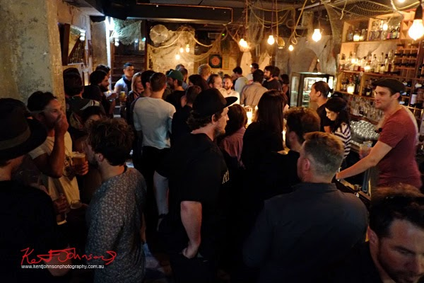 The crowd and the venue, Electric's Craig Anderson signature sunglasses Txoko Launch at The Old Growler