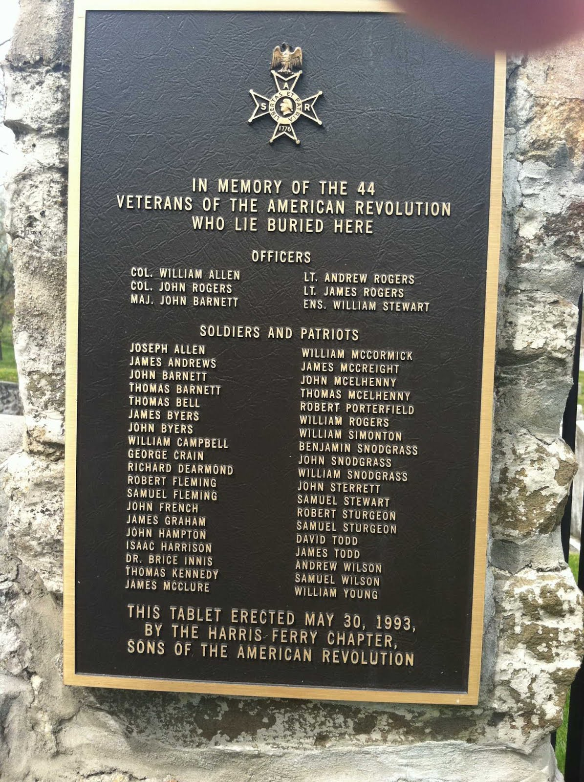 Some who fought in American Revolution (Booth Family Tree)
