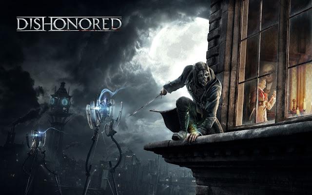 corvo attano in dishonored como papel de parede