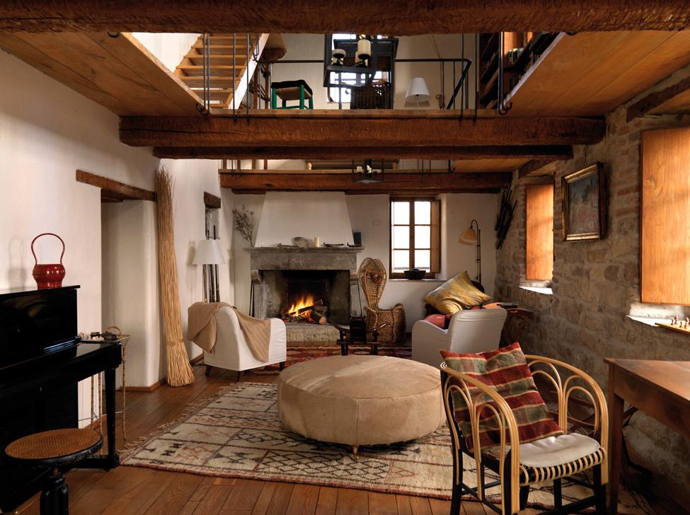 Estilo rustico bella casa rustica en la liguria - Decoracion de techos rusticos ...