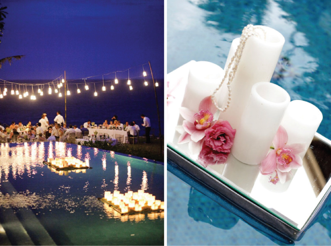 gorgeous pool decorations for weddings - belle the magazine