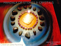 Mandalas of stones and crystal