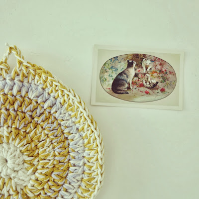 ByHaafner, crochet, potholder, pastel, vintage cats image