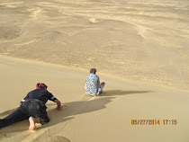 FWT sandboarding on white dunes in he Oasis Loop, Western Desert (Egypt)