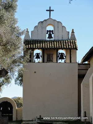 bell tower at mission Santa Ines in Solvang, CA