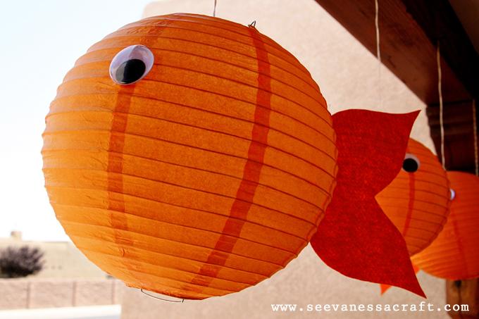 Goldfish party design dazzle for Paper lantern fish