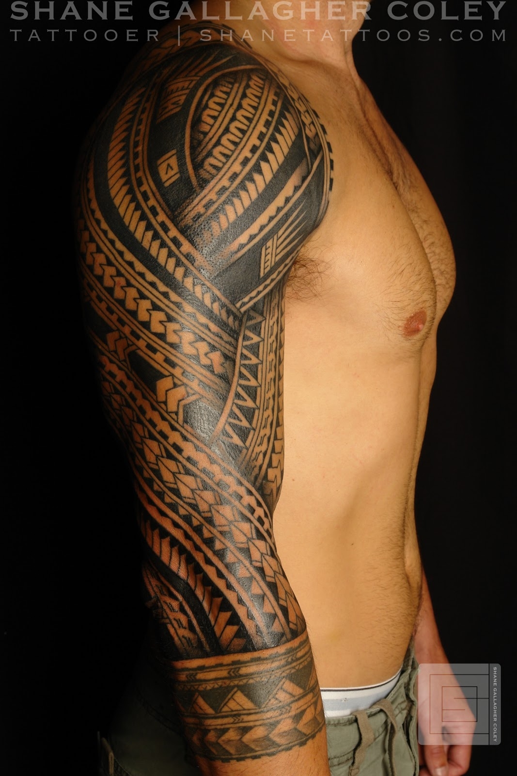 shane tattoos polynesian sleeve. Black Bedroom Furniture Sets. Home Design Ideas