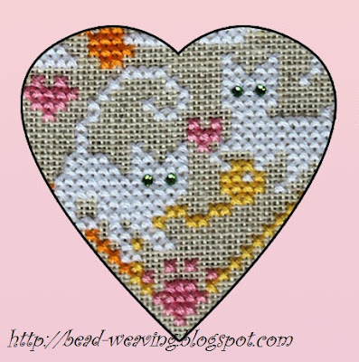 cross stitch, counted cross stitch, pattern, chart, hello kitty, cat, cats, 9 live, kittens, white, heart, love, loving, swarovski, crystals,free, meow, purr