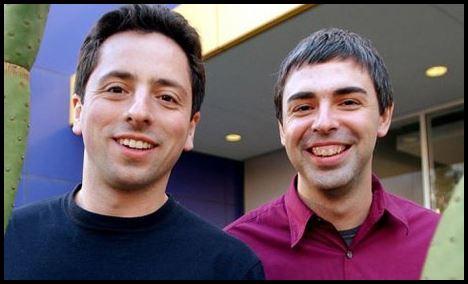 Larry Page dan Sergey pendiri Google