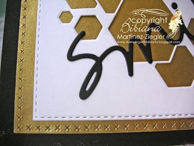 modern masculine card  detail hexagon