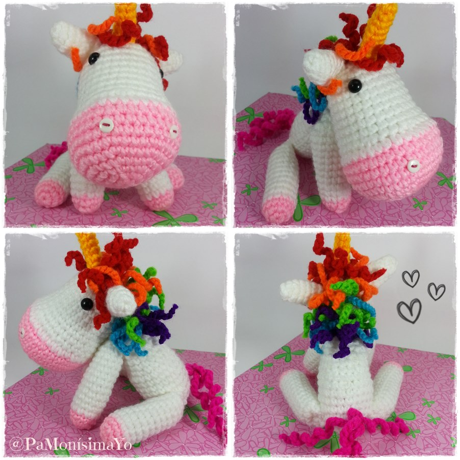 Pa Mon?sima: Yo:  Unicornio so cute amigurumi