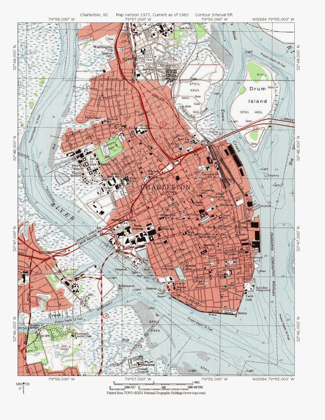 hazard map with key