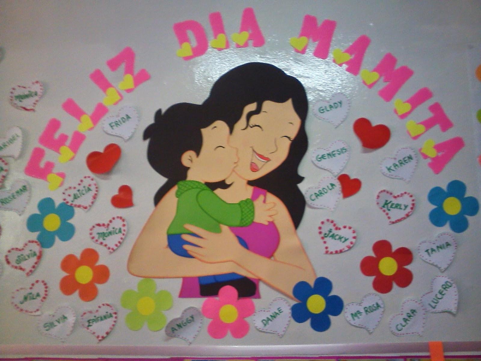 Recursos para educaci n inicial d a de la madre for Mural una familia chicana
