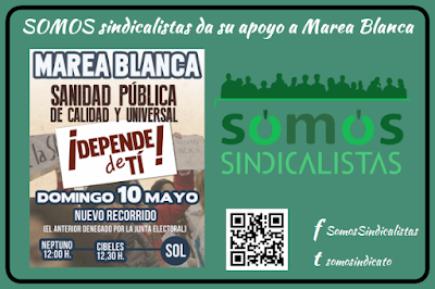 SOMOS sindicalistas apoya la sanidad pública y gratuita