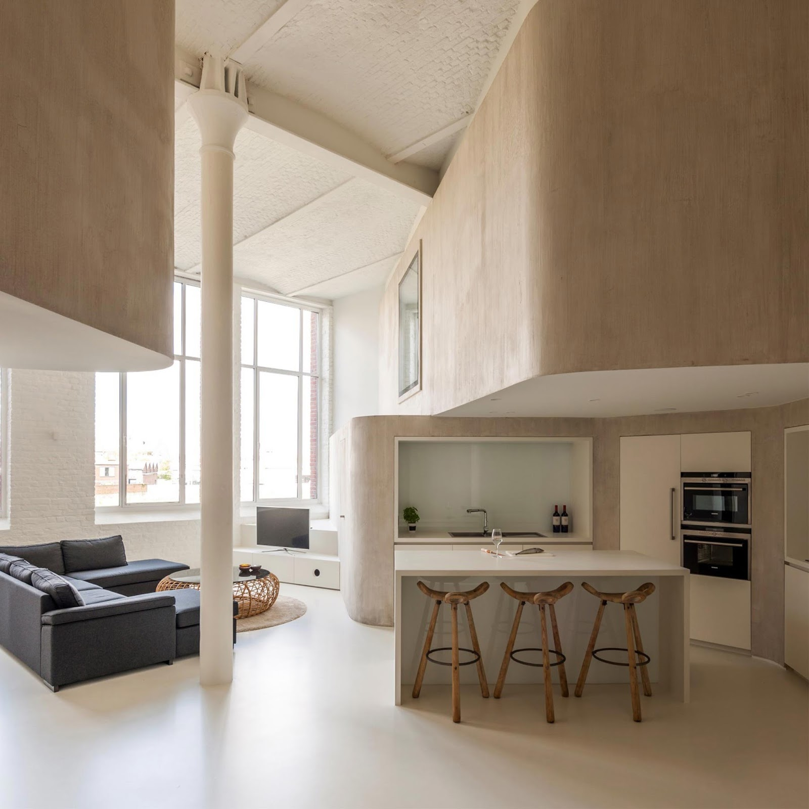 Casa con pareti interne ondulate in belgio by graux & baeyens ...