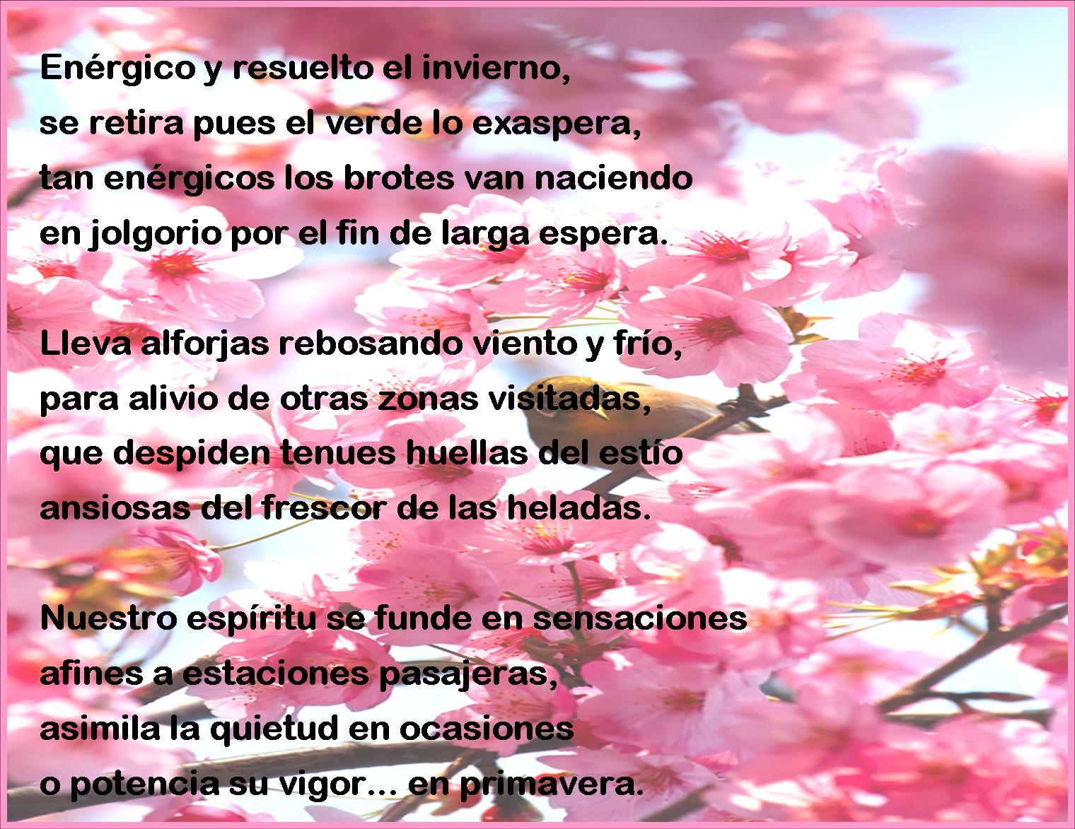 Palabras Poes Versos Con Rima Bienvenida Primavera