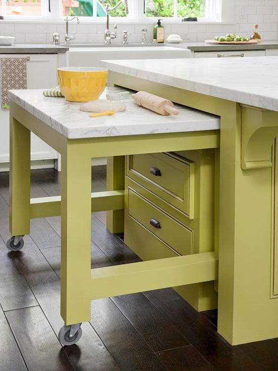 5 ideas para sacar m s partido en el interior de una cocina for Mesas de cocina con ruedas
