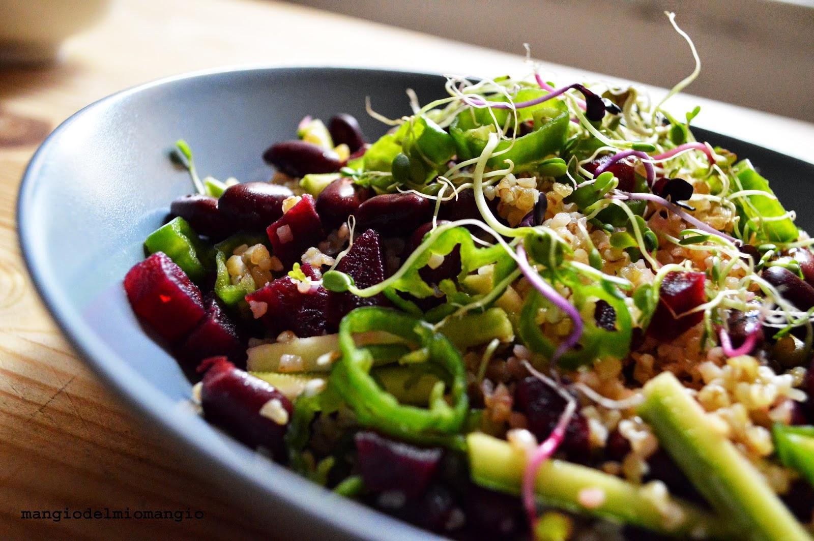 Insalata di bulgur fagioli rossi barbabietola zucchine e for Cucinare friggitelli
