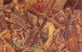 Yesus Memanggul Salib-Nya ke Gunung Kalvari