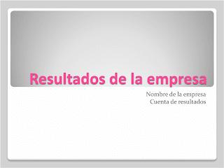 presentación resultados empresa