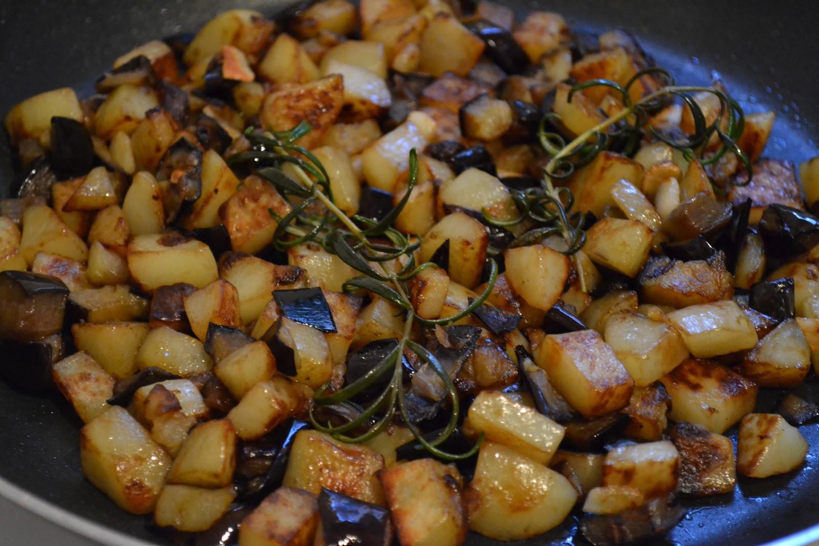 lili u0026 39 s cookbook  pommes de terre et aubergines po u00eal u00e9es