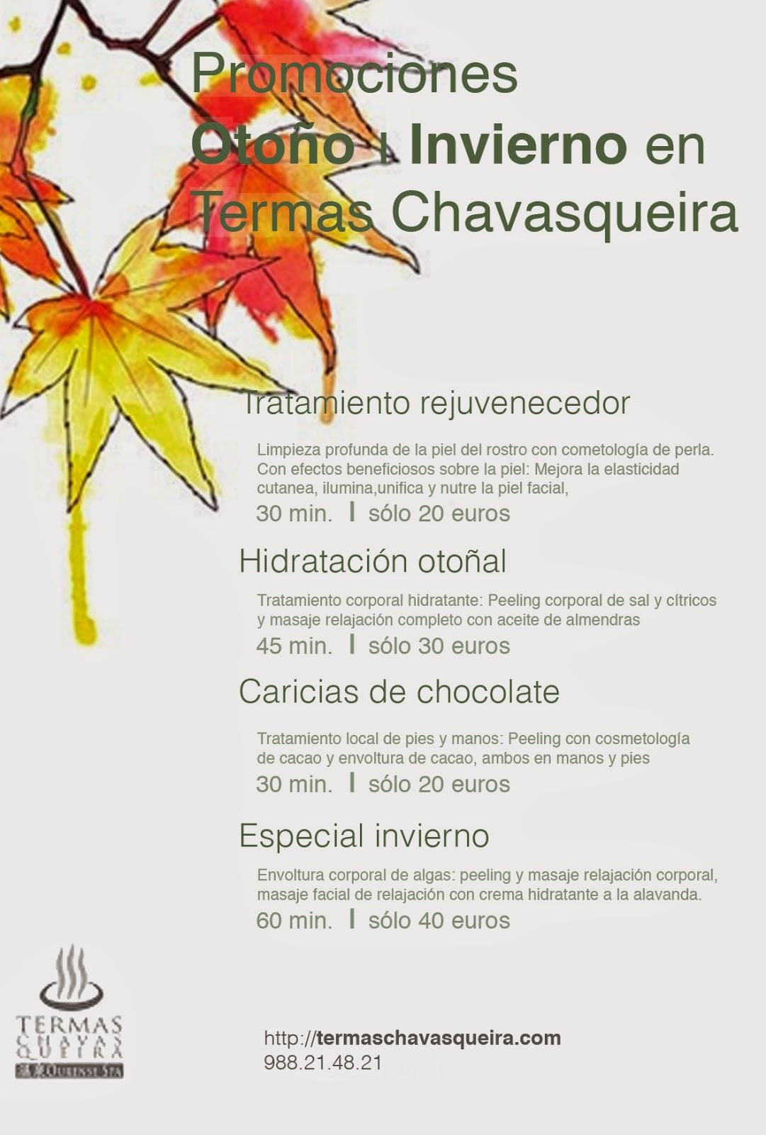 Promociones Otoño Onsen Termas Chavasqueira, Ourense