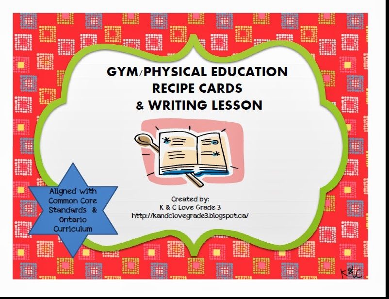 http://www.teacherspayteachers.com/Product/Gym-Recipe-Cards-Writing-Lesson-DPA-356982