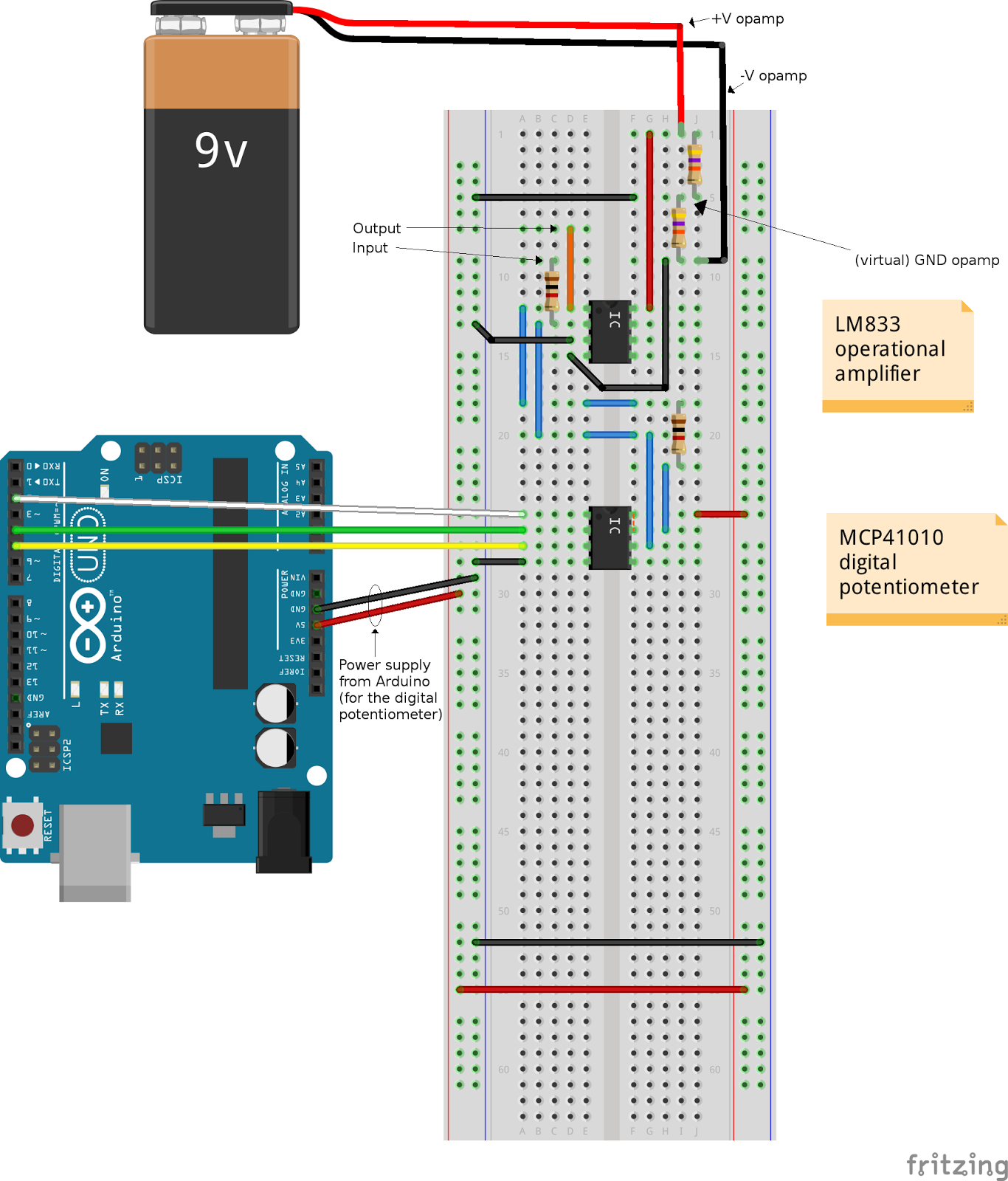 techrm: How to control an inverting amplifier using Arduino and a ...