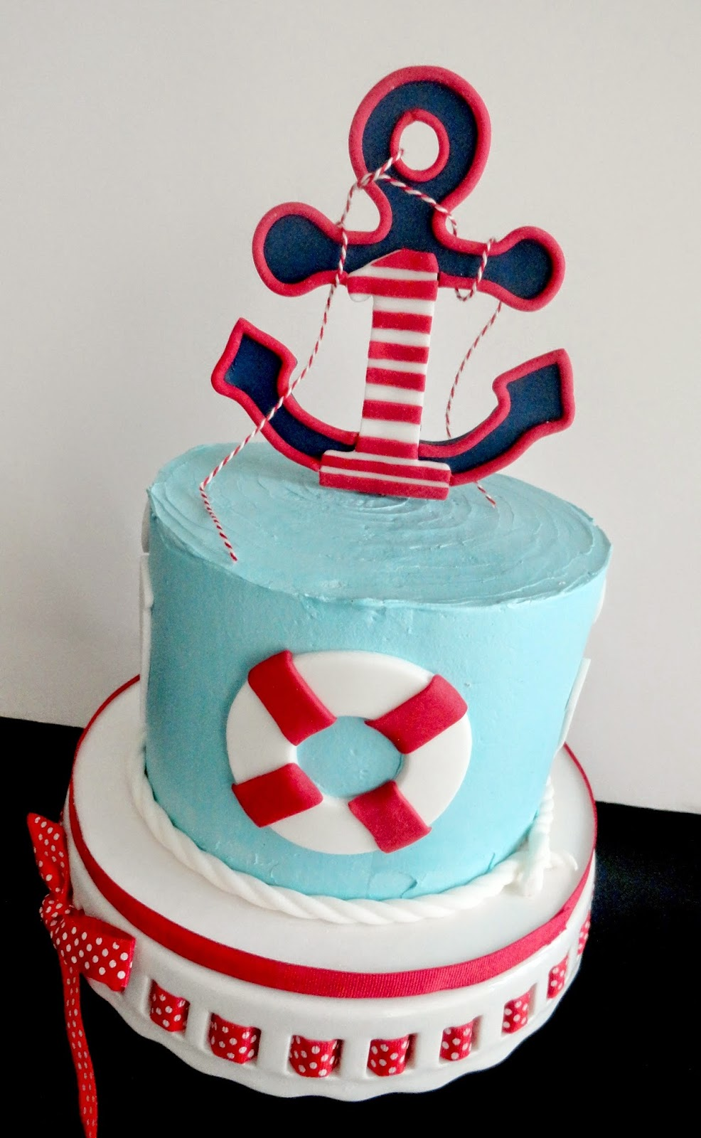 My Pink Little Cake Nautical Theme 1 St Birthday Cake