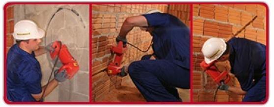 Tạo rãnh tường với máy phay đục rãnh tường