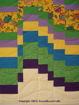 bargello quilt detail