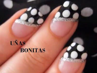 Decoración fácil y linda de uñas, elegantes