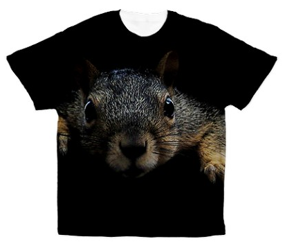 Big animal face shirt: squirrel t shirt