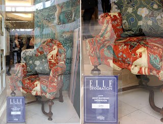Arden chair window display