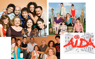 Logo y reparto de la serie Aída de Telecinco