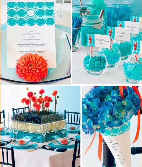 A Modern Orange and Blue Wedding | Wedding Stuff Ideas
