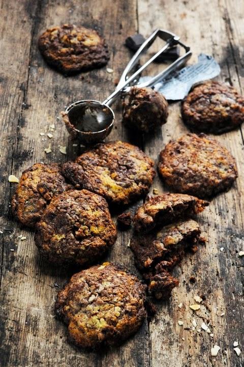 Cookies aux noix et au chocolat juste parce qu'un garçon ça peut être de mauvaise foi… des fois !