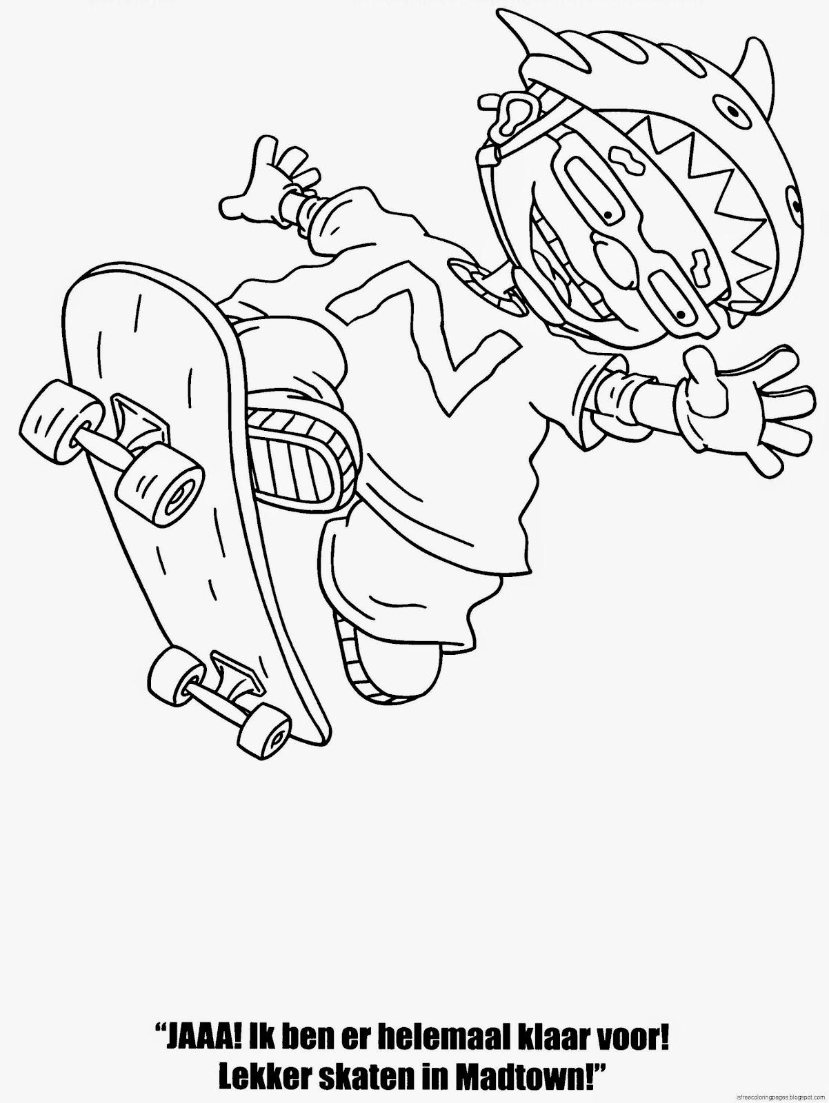 rocket power coloring pages free coloring pages