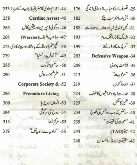 index of Zavia 3 by Ashfaq Ahmad