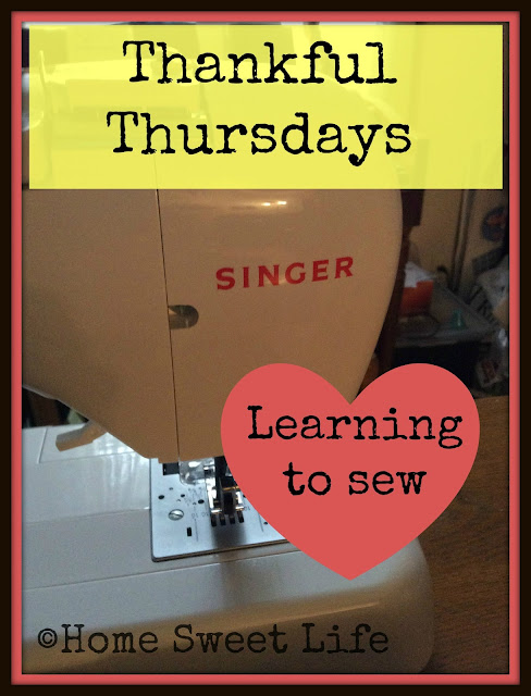 sewing, thankfulness, teaching our children