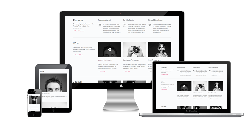 JA Puresite Joomla Template Free Download by JoomlArt.