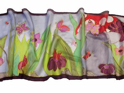 Pillangómese selyem sálak - ideális ajándék nőknek
